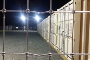 Storage containers safe and secure high tensile fence